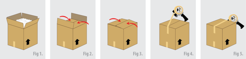 Caloundra Van Lines removals and Storage tips - Taping up moving boxes for moving day